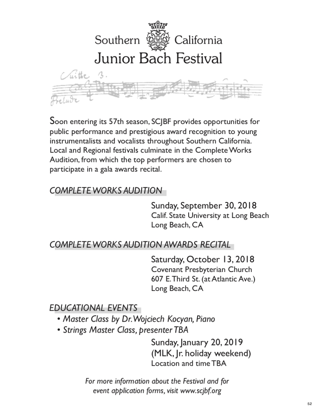 Southern California Junior Bach Festival